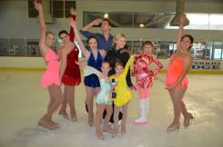 With junior ice skaters.
